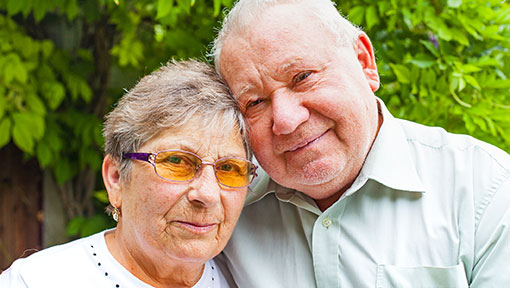 Elderly couple living with impacts of dementia diagnosis