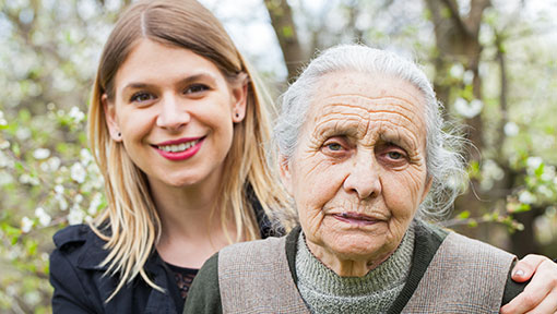 Daughter who can benefit from Dementia Care Partner Networks for those caring for someone with dementia