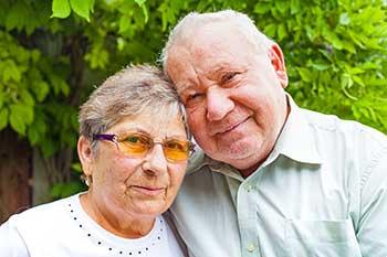 Elderly couple living with demetia