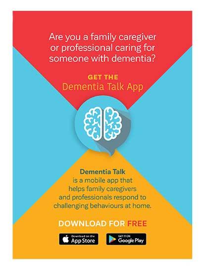 Dementia Talk App postcard - front