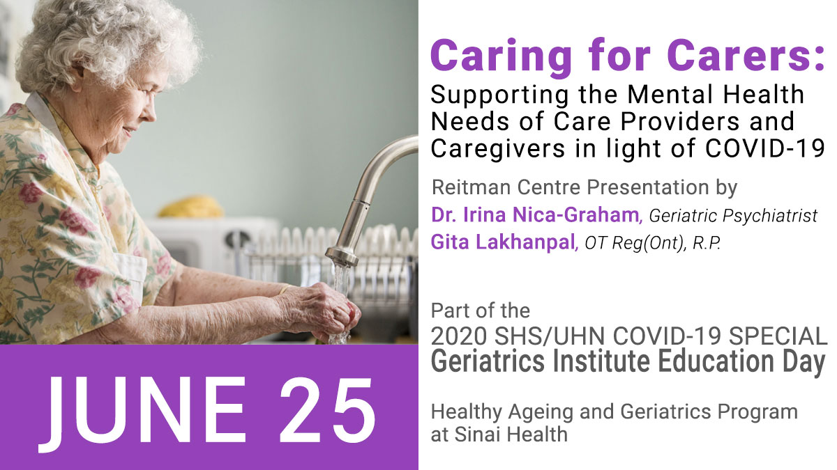 Caring for Carers promo for presentation on supporting the mental health needs of care providers and caregivers in light of COVID-19