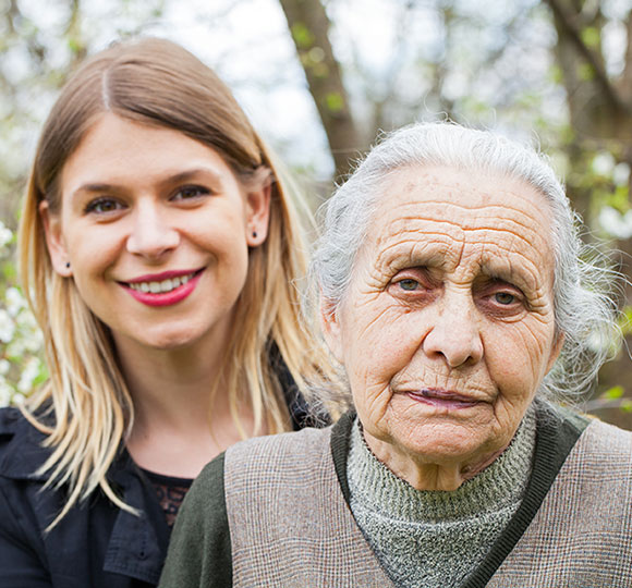 Daught caring for her mother living with dementia